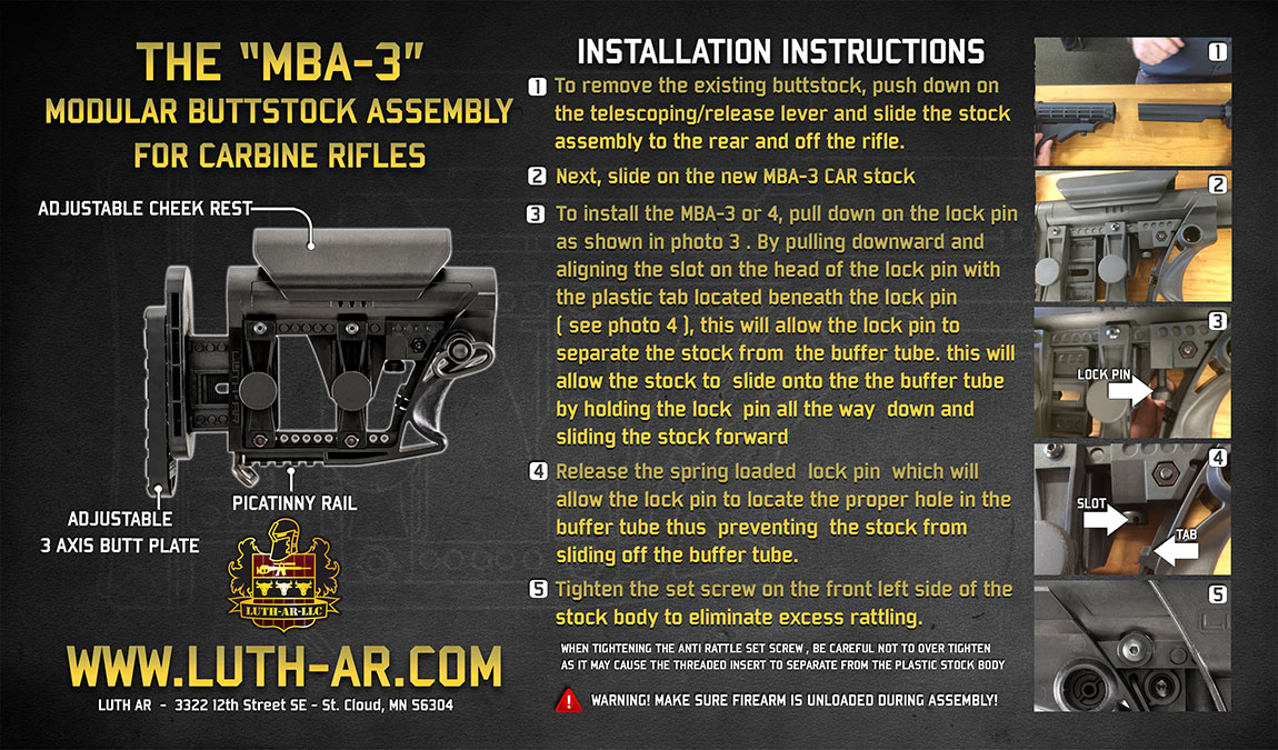 MBA 3 Installation Instructions